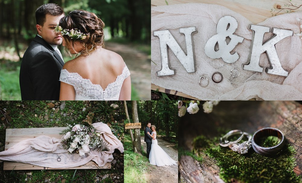 Woodsy Wedding | Grand Barn At The Mohicans A Romantic Woodsy Wedding Holly Ann