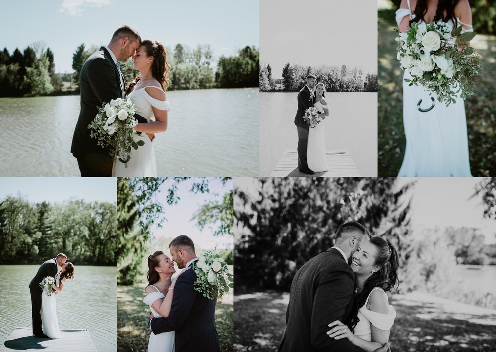 Emma + Aaron  -  a sweet and intimate ceremony by the water