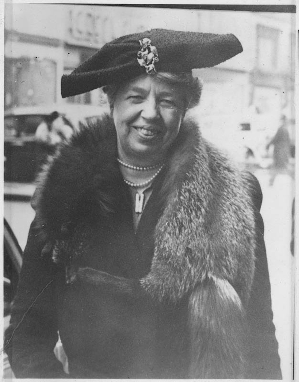Eleanor Roosevelt, Fifth Avenue, Dec. 20, 1940, Franklin D. Roosevelt Presidential Library and Museum