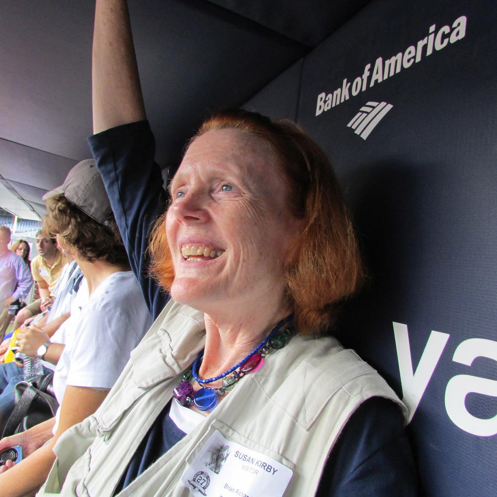 Susan in dugout 1500 7-2013 084.jpg