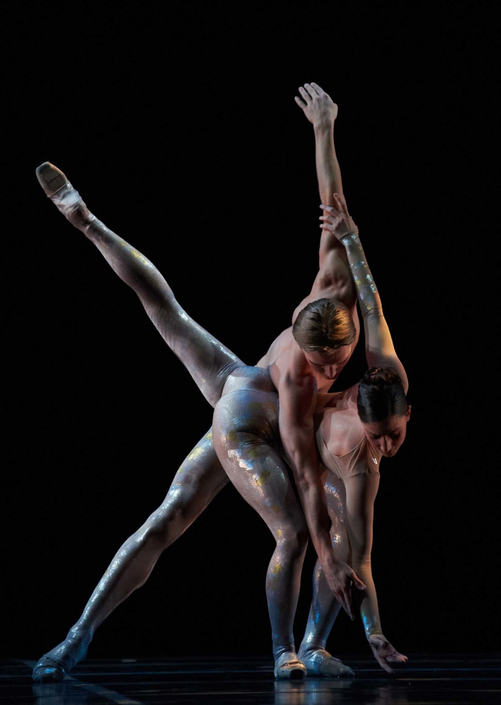 Amanda Green and Tristan Dobrowney in  Luminous . Photo by Bruce Monk