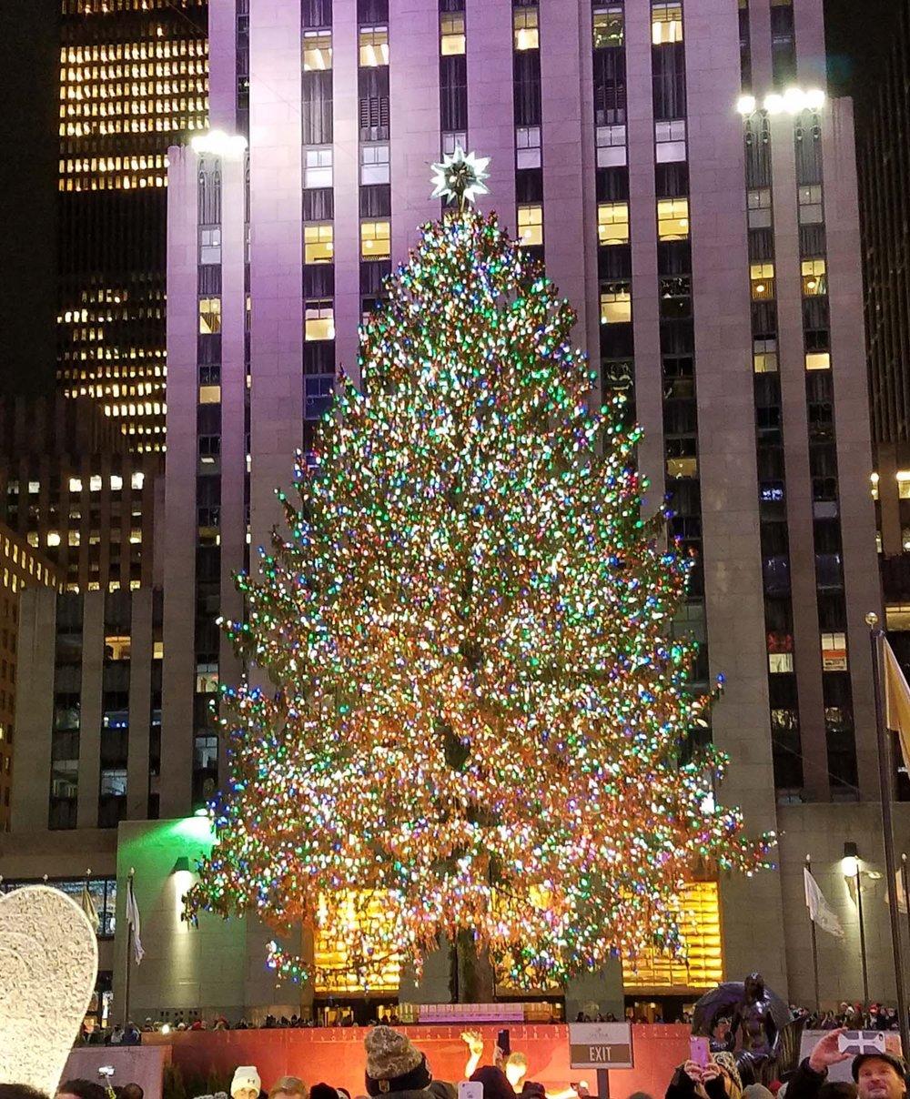 The Rockefeller Center Christmas Tree, New York City, 2016