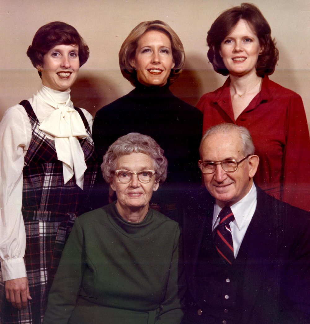 The Kirby Family, 1978: clockwise, from left: Kathleen, Rebecca, Susan, William R. and Isabel Kirby