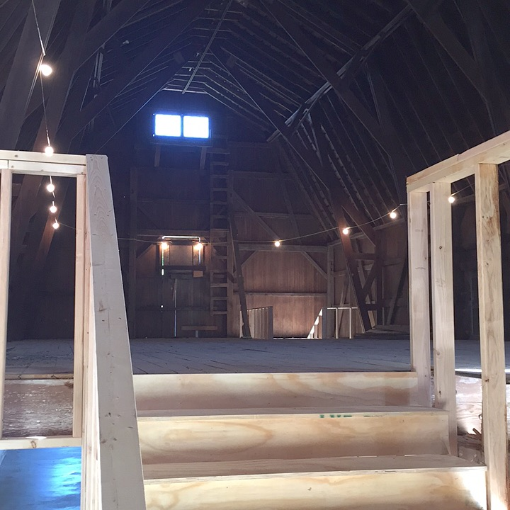 View of the upper loft coming up the new stairs.