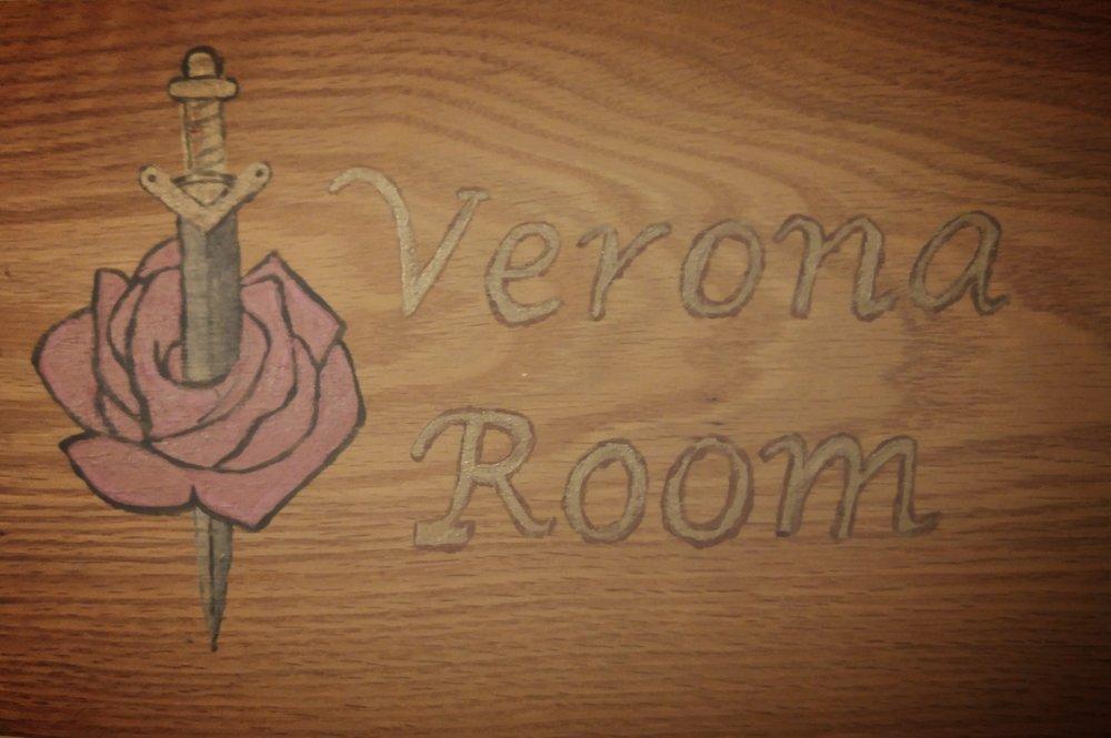 The Verona Room Sign