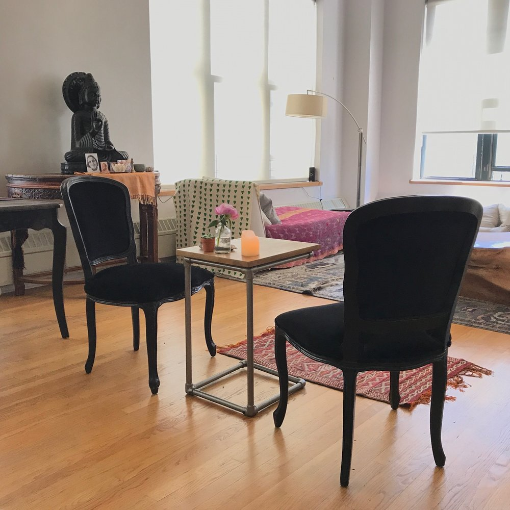 In-person private sessions are done at my home in Dumbo Brooklyn
