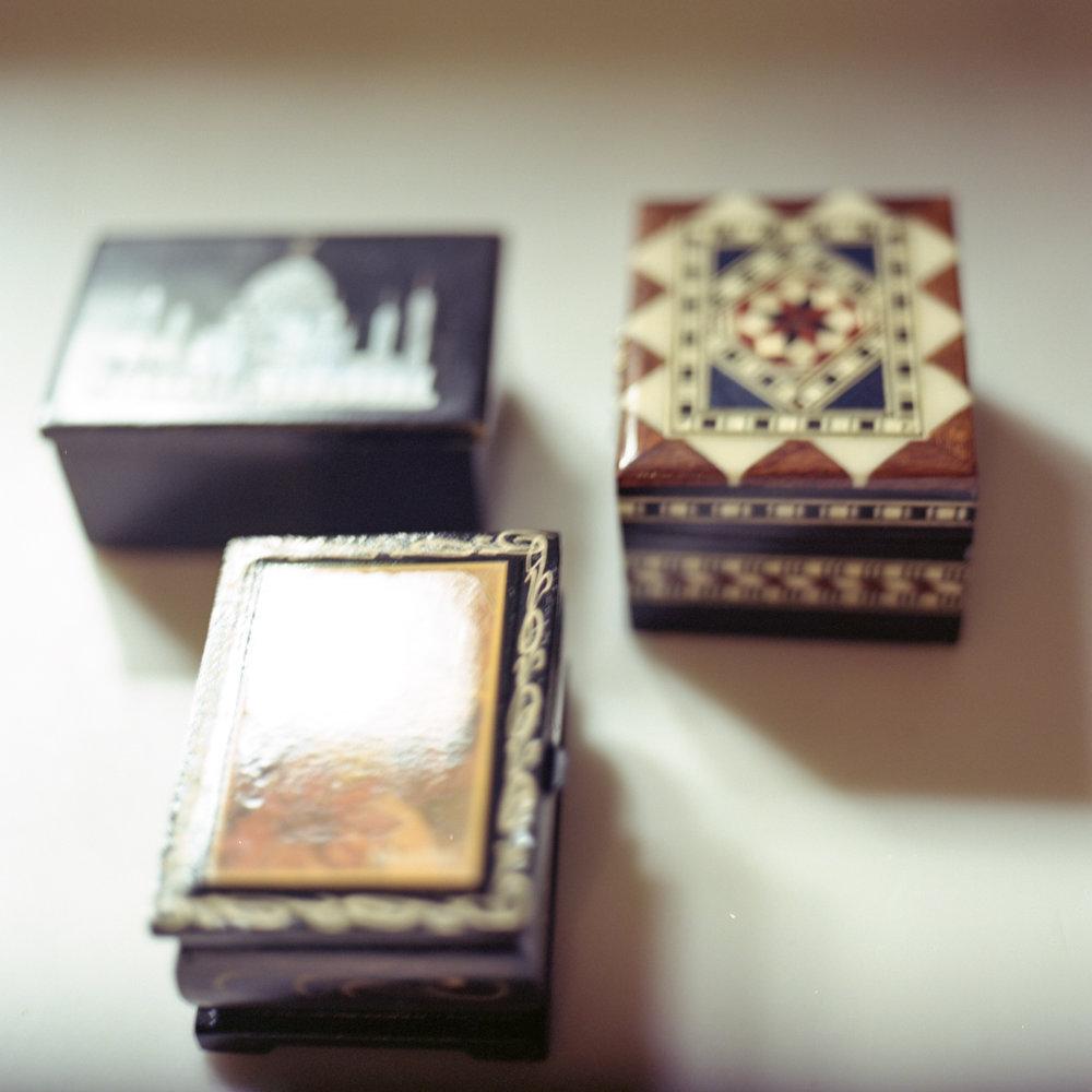 Trinket Boxes, Agra, Granada & Prague