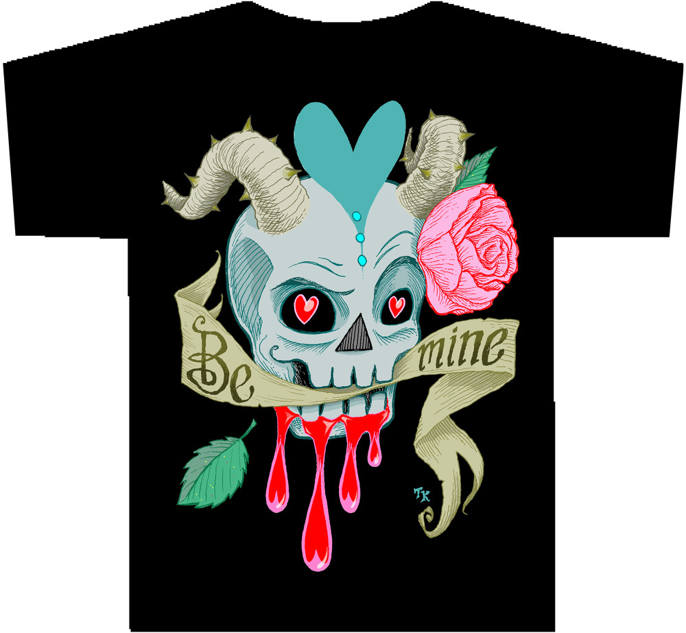 """SKULLENTINE"" full-color version T-Shirt"