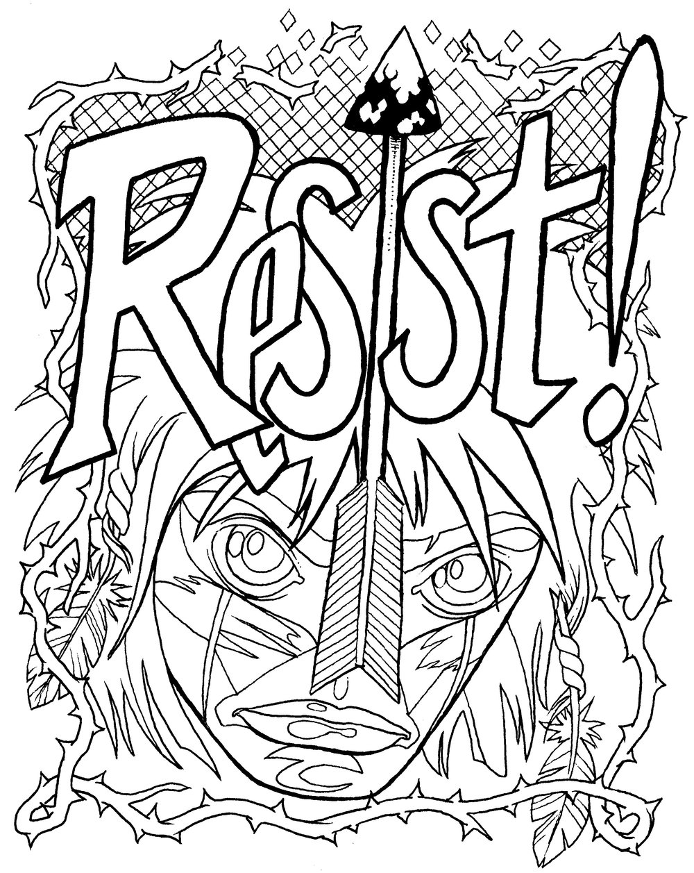 Coloring Page : Resist (Warrior)