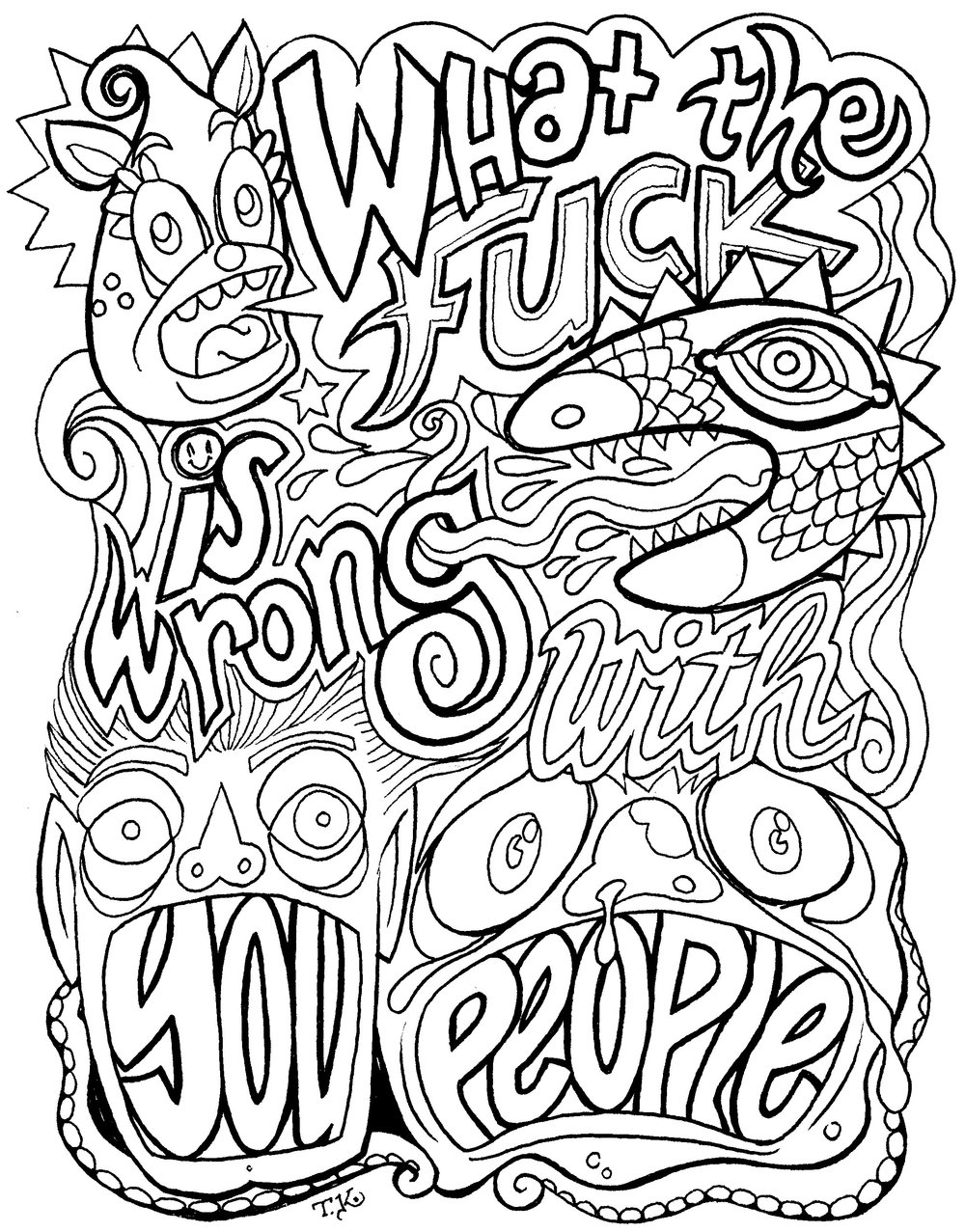 "Coloring Page: ""WTF"""