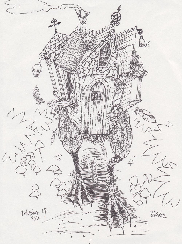 Inktober 17, 2016 (Baba Yaga's House)
