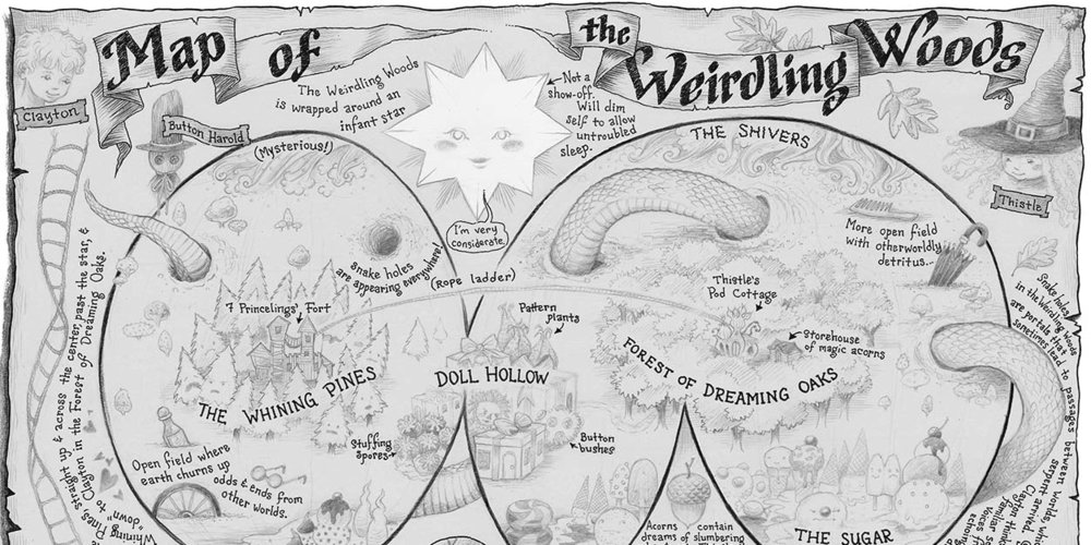 Weirdling Woods, Map of