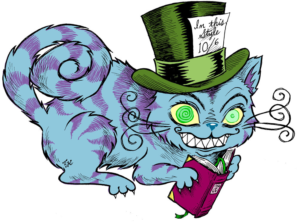 Cheshire Cat reading