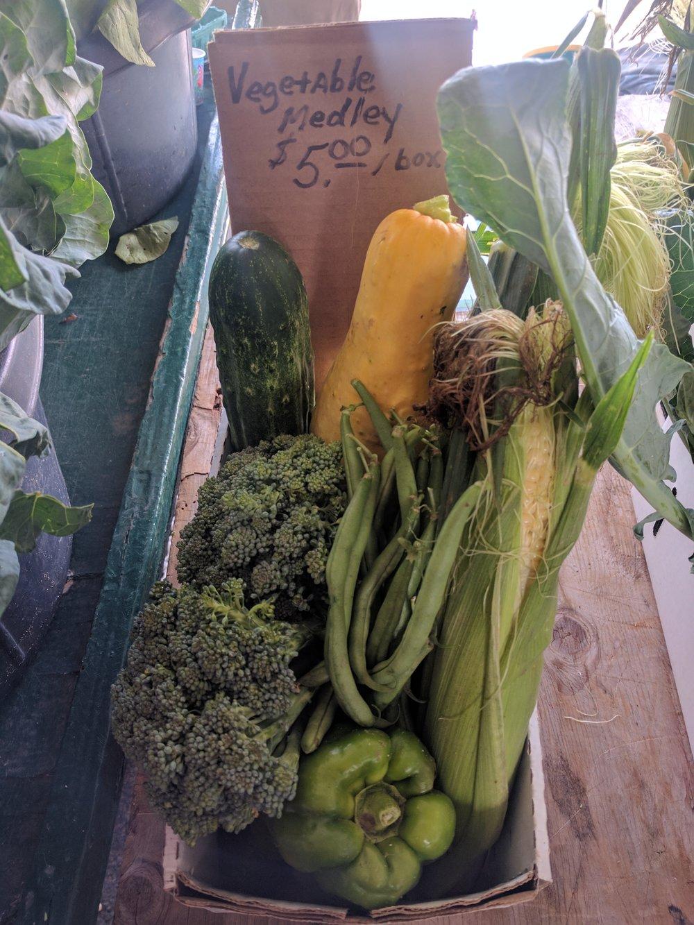Tanstaffl Farm Stand veggie box
