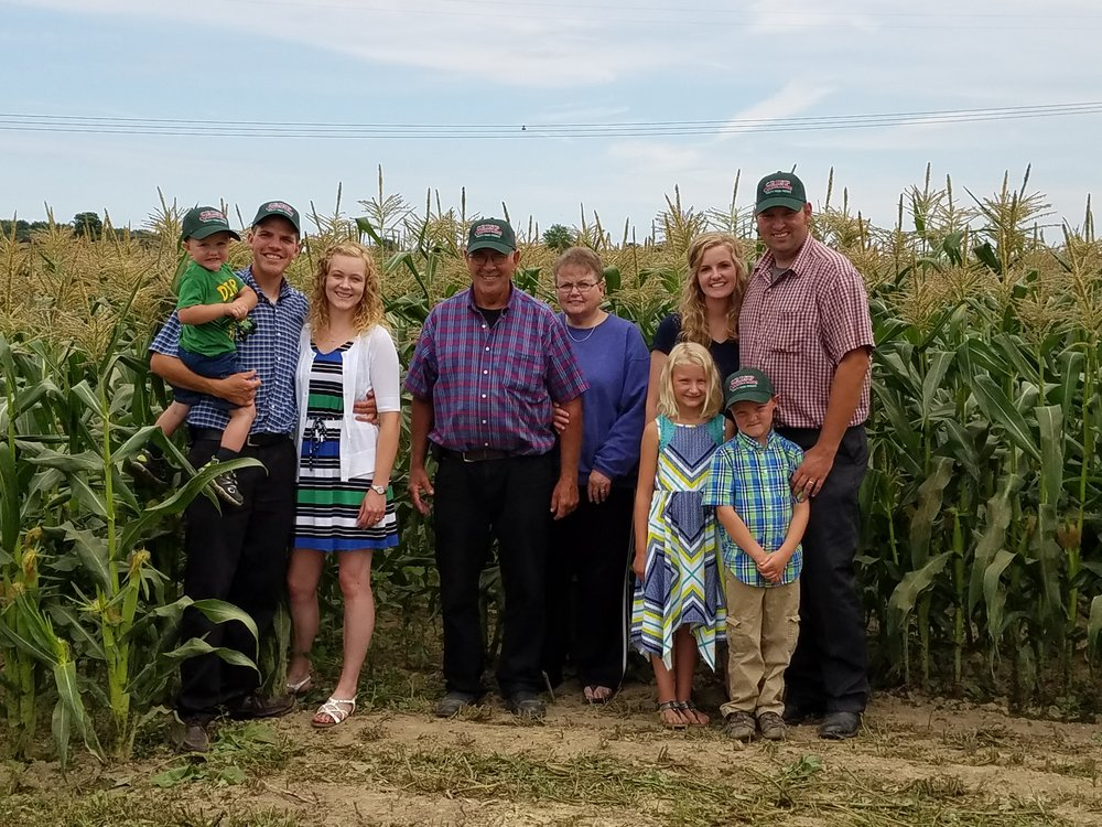 "The Visser family of ""Crisp Country Acres"""