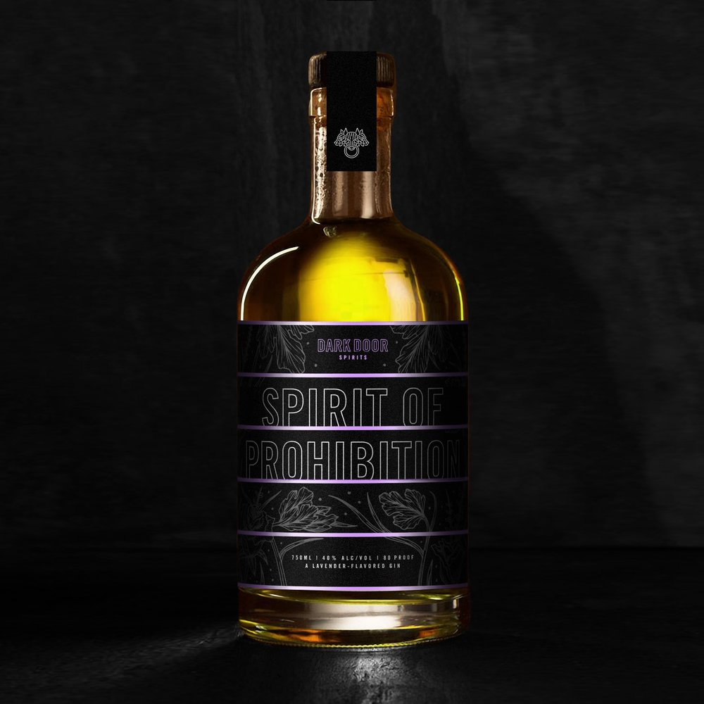 SPIRIT OF PROHIBITION - Fresh lavender buds are macerated proving dry lavender notes upon the nose and a unique color to the spirit. As it develops in the glass hints of coriander, citrus, and rose shine through.