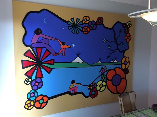 This is the same piece before, the outside border color was not the original color but a brighter orange, the sky, land and water were completely overhauled. I also created more stars to enlighten.