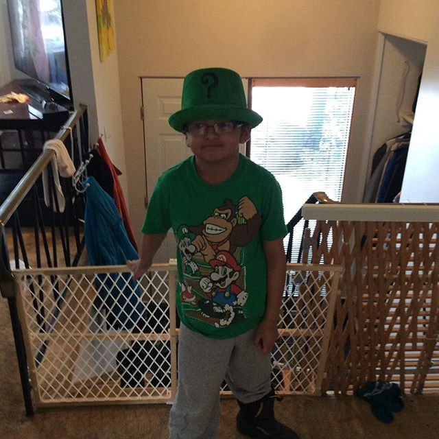 Raymond ready for St.Patricks day at school.