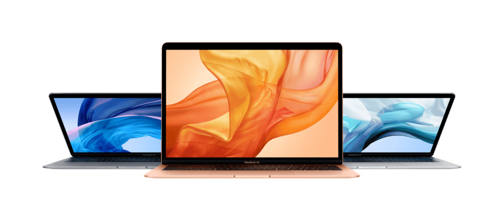 MacBook Air - The MacBook Air hasn't received an update since 2014; now, it has been completely redesigned for today's needs. First, the resolution of the display has increased fourfold, and the bezels have been reduced. The computer also boasts a far more powerful processor than the previous generation, a redesigned keyboard reminiscent of those found on newer MacBook Pros, and a 20% larger track-pad. And for those who want their tech to be a little bit greener, the new MacBook Air is made from 100% recycled aluminum. It comes in three new finishes (Silver, Space Gray, and Gold), and starts at $1199, around $200 more than the previous iteration.