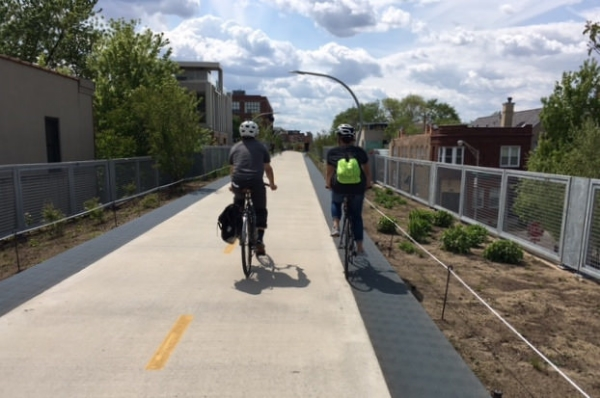 Cycling on the 606