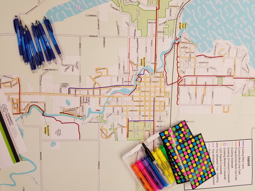 Maps! Stickers! Coloring! This was so my speed