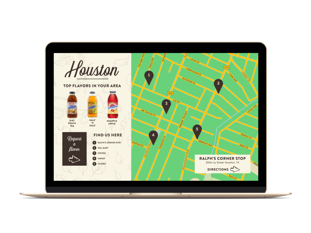 Interactive Flavor Map