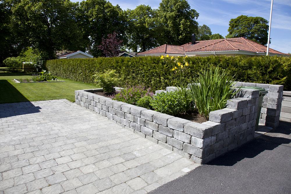 Mur, betongsten
