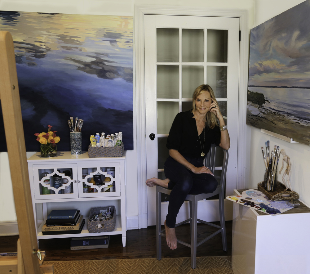 ARTIST IN HER STUDIO RYE, NY  Katherine-coleman photography