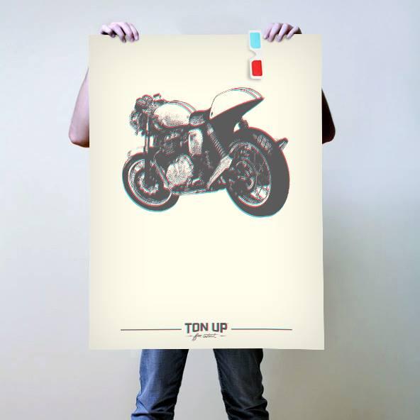 Poster - 3D Thruxton