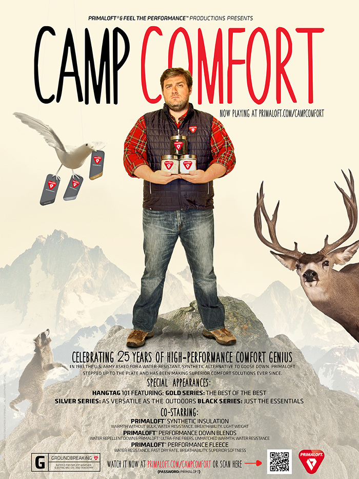 Posters were hung in the break rooms at outdoor retailers all around the world encouraging them to check out the video.