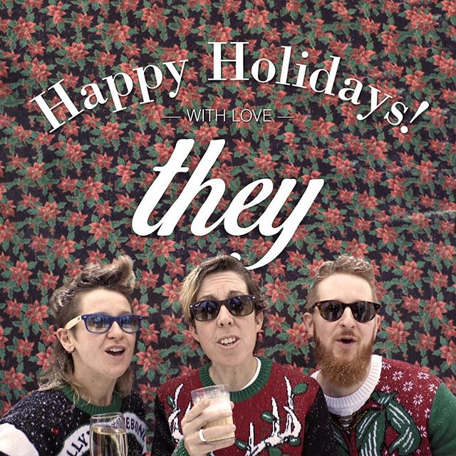 Check out one heck of a holiday video made by THEY! Link in profile. #corporatecard #happyholidays #theycation #makingmovies