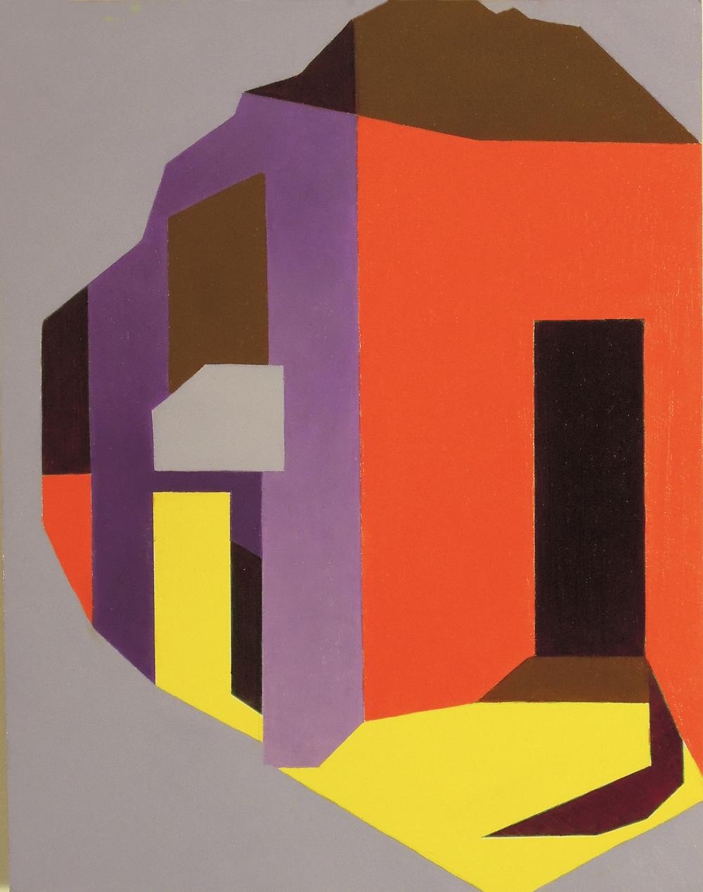 """Casitas  oil on panel 14"""" x 11"""" 2016"""