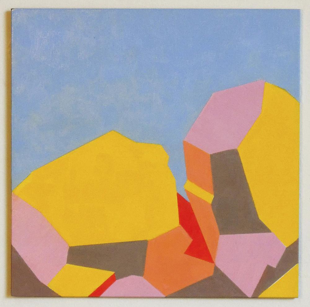 "Fall Zone  oil on clayboard 8""x8""2015"