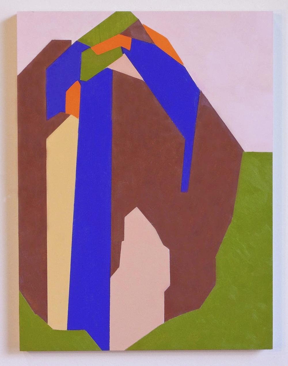 """Mountain  oil on clayboard 12""""x9""""2015"""