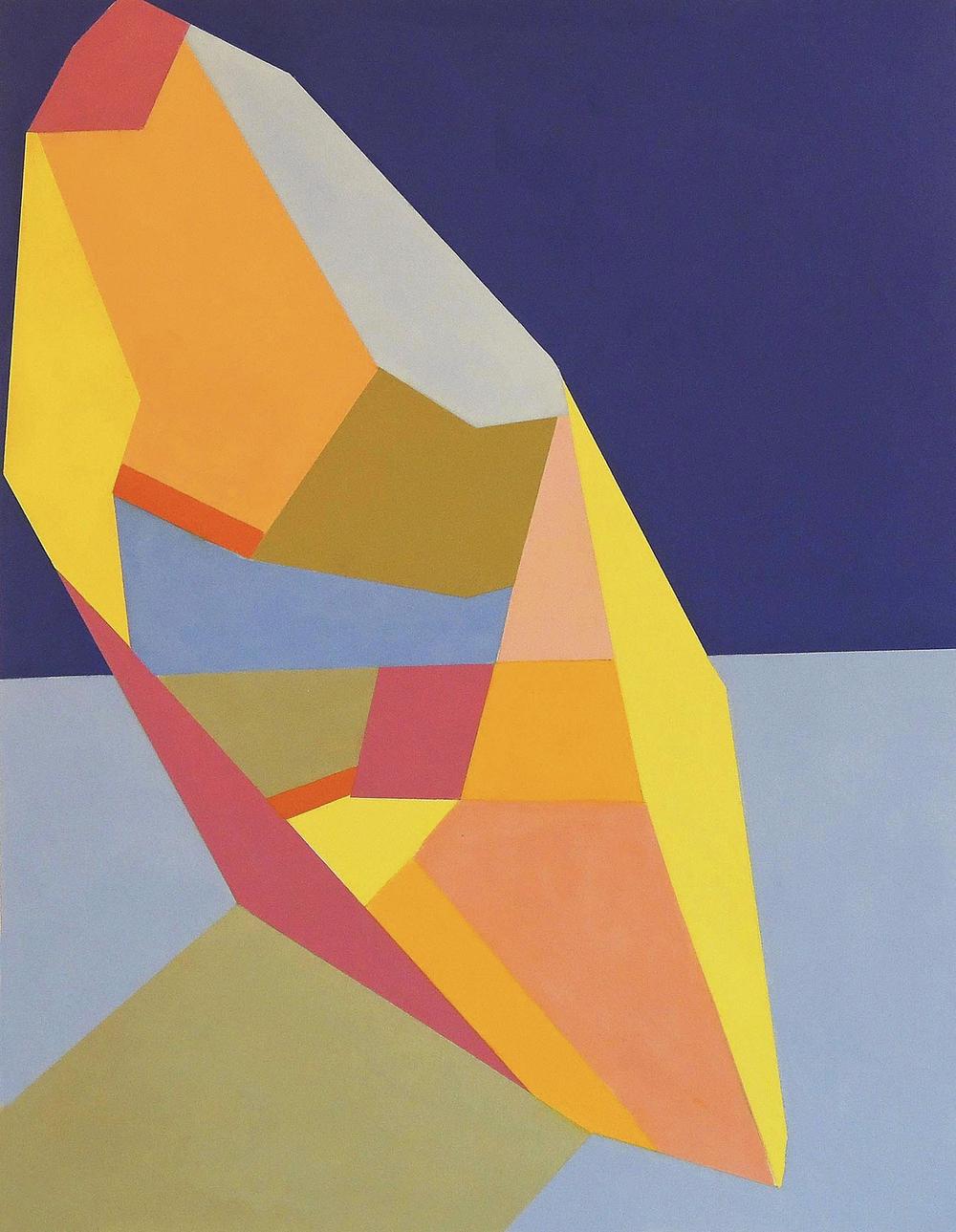 Tilt oil on paper 19x14, 2015