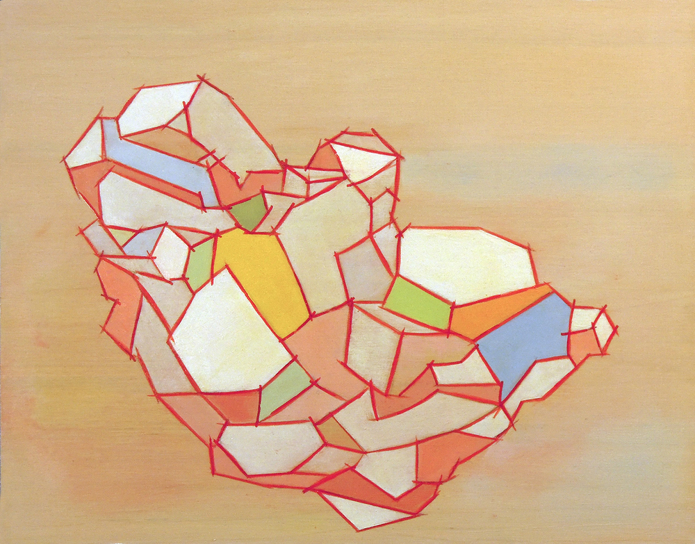 "Baby  oil on wood panel 11""x14""2015"
