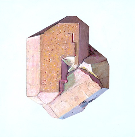 Apatite oil and acrylic on clayboard 8x8, 2014