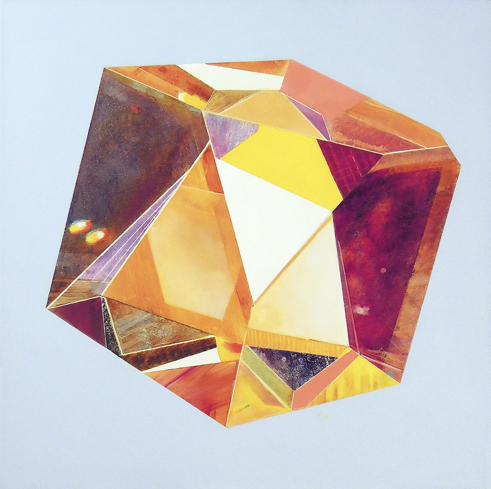 "Calcite  oil and acrylic on clayboard 12""x12"" 2014"