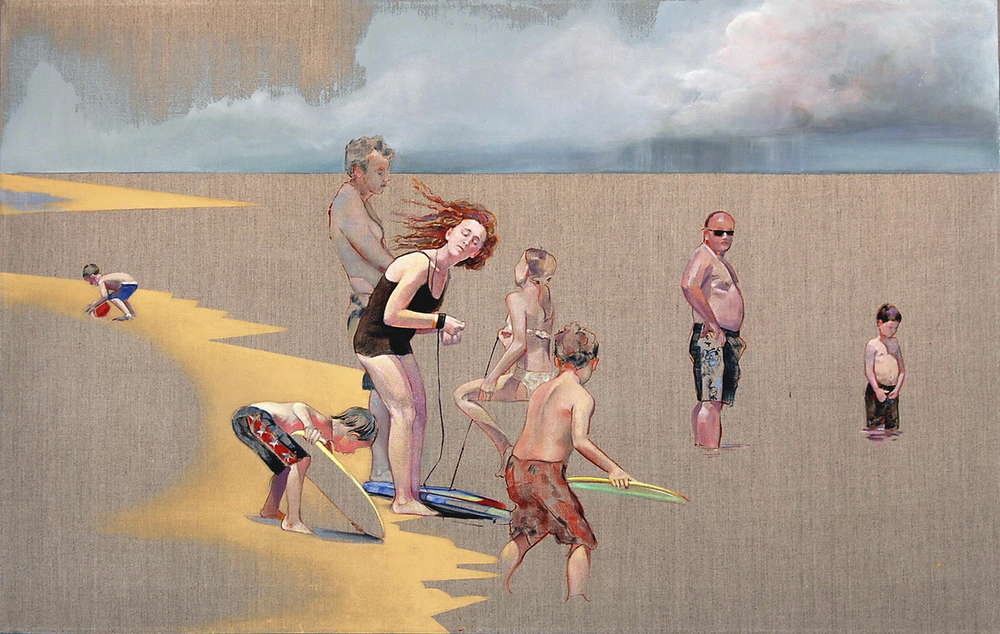 """Untitled  (Cape Cod) oil on linen 22"""" x 44"""" 2008"""