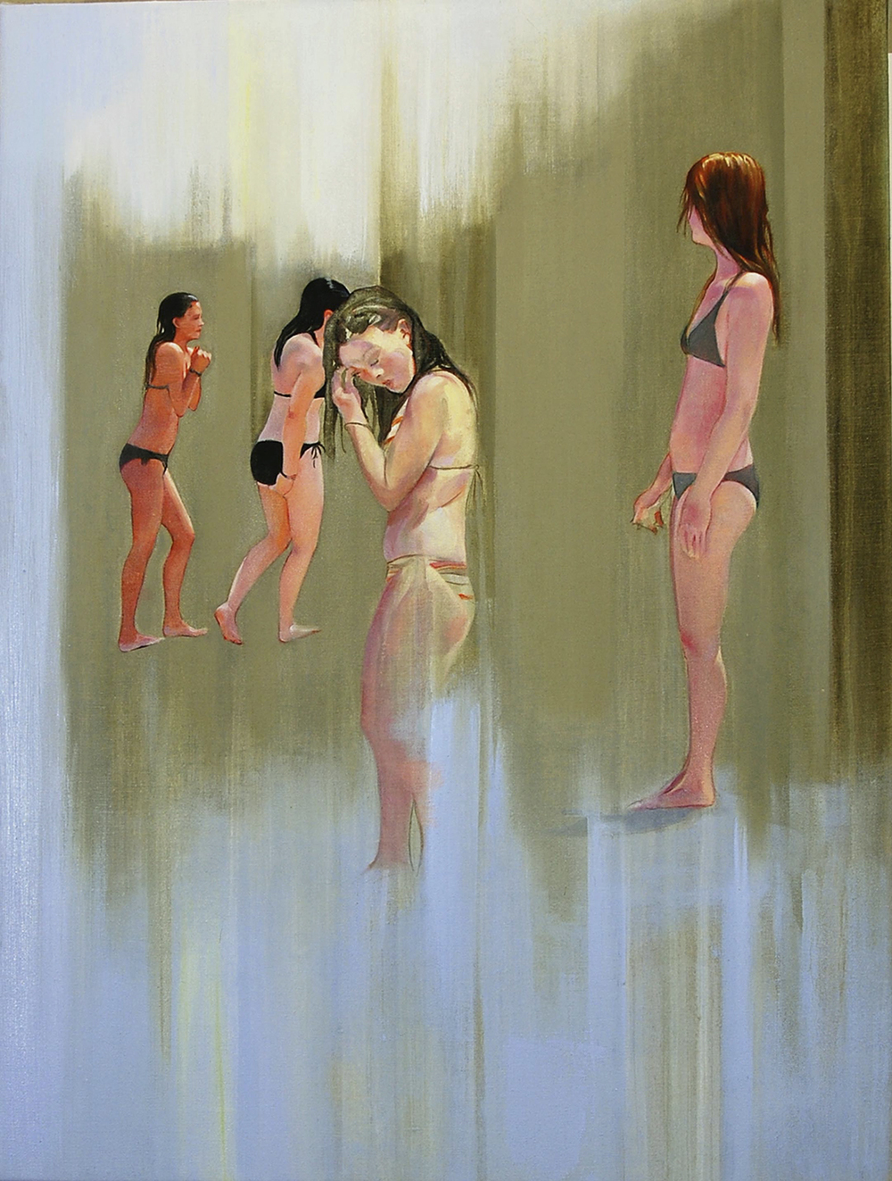 "Bathers  oil on linen 32""x24"" 2009"