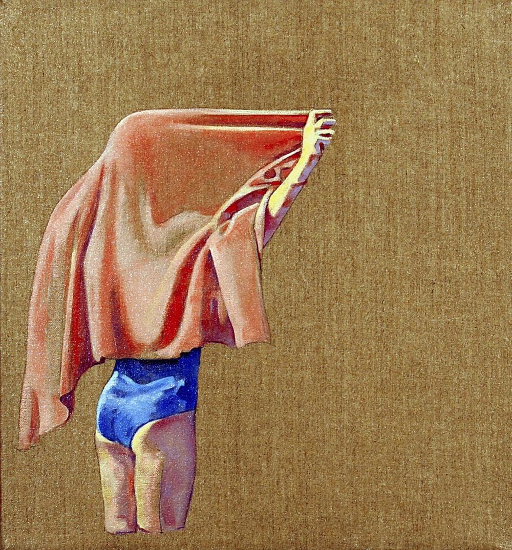 Towel 2  oil on linen 14x13, 2009