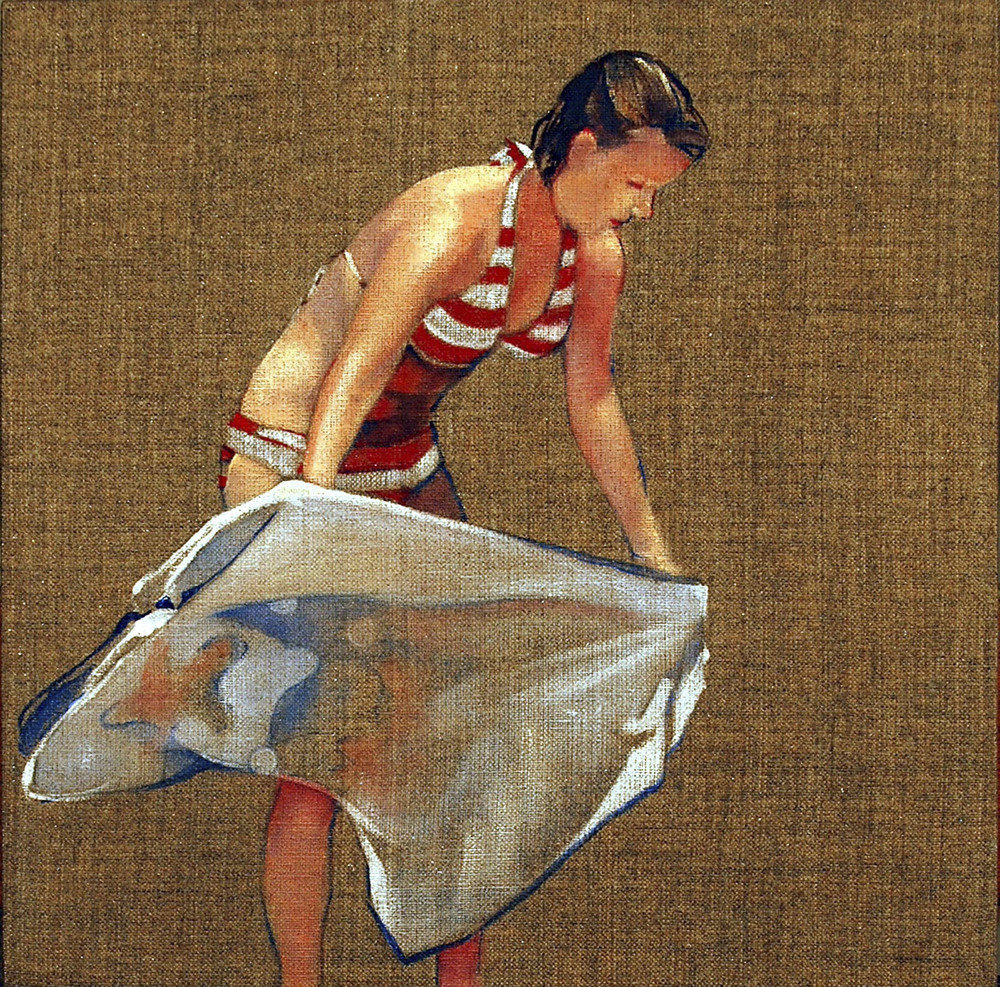 "Towel 3  oil on linen 12"" x 12"" 2009"
