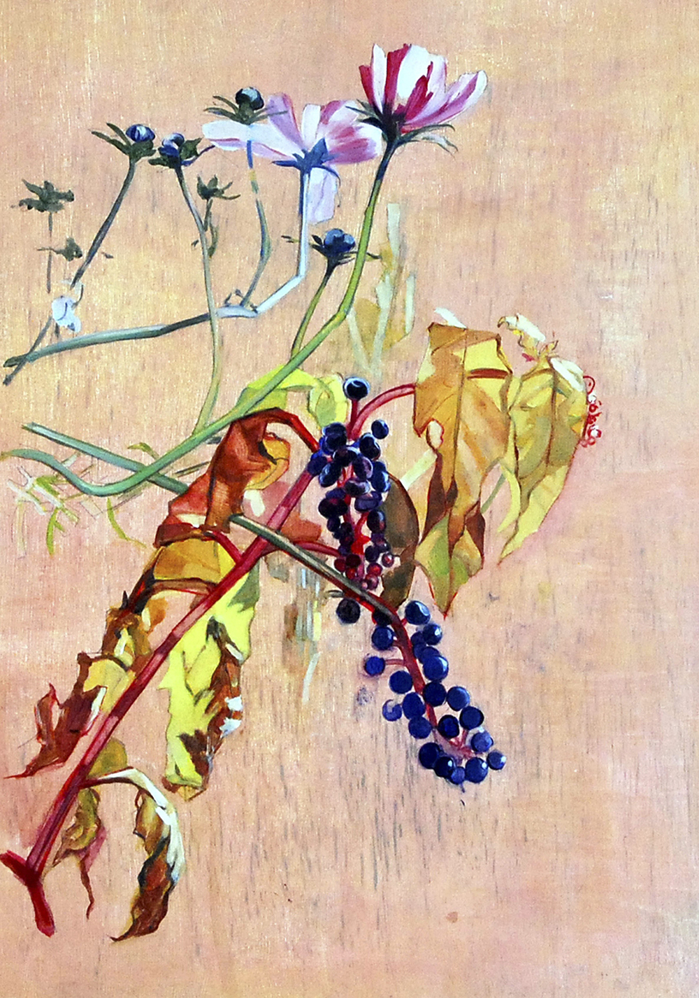 Fall Flowers oil on paper 17x12, 2006 *