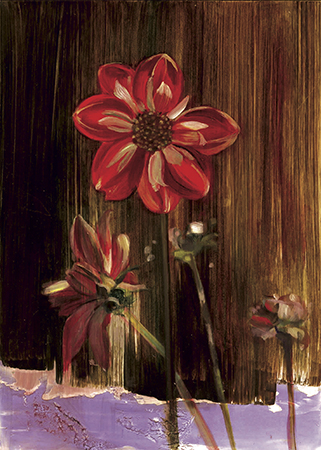 "Dahlia  oil on panel 7""x5""2007"