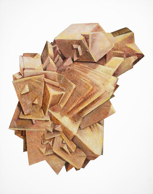 Calcite, oil on panel 14x11, 2012