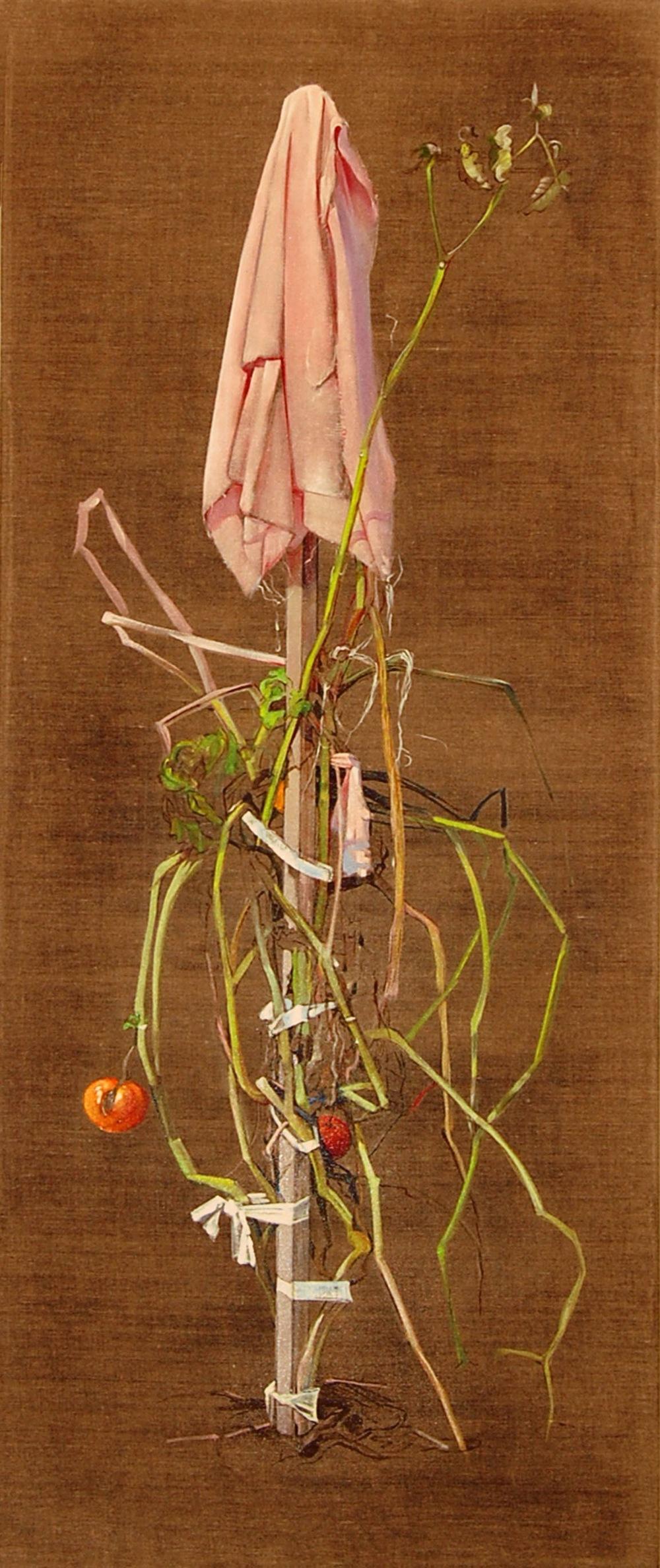 Tomato oil on linen 50x22, 2009