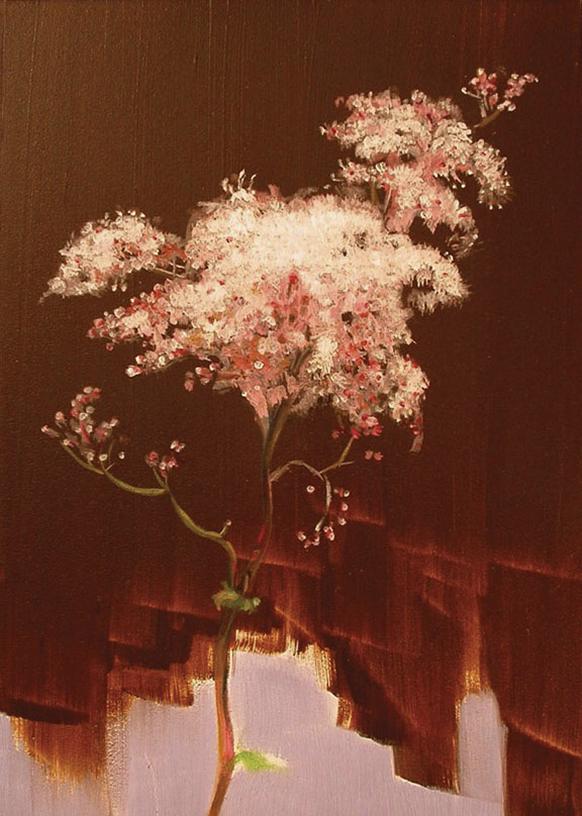 Flower for Manet oil on panel, 7x5, 2004 *