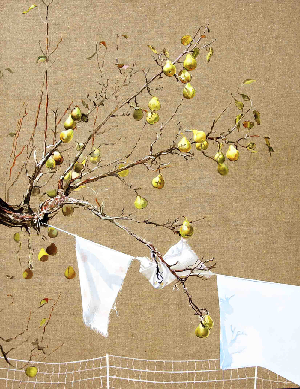 "Pear Tree  oil on linen 54""x42"" 2011"