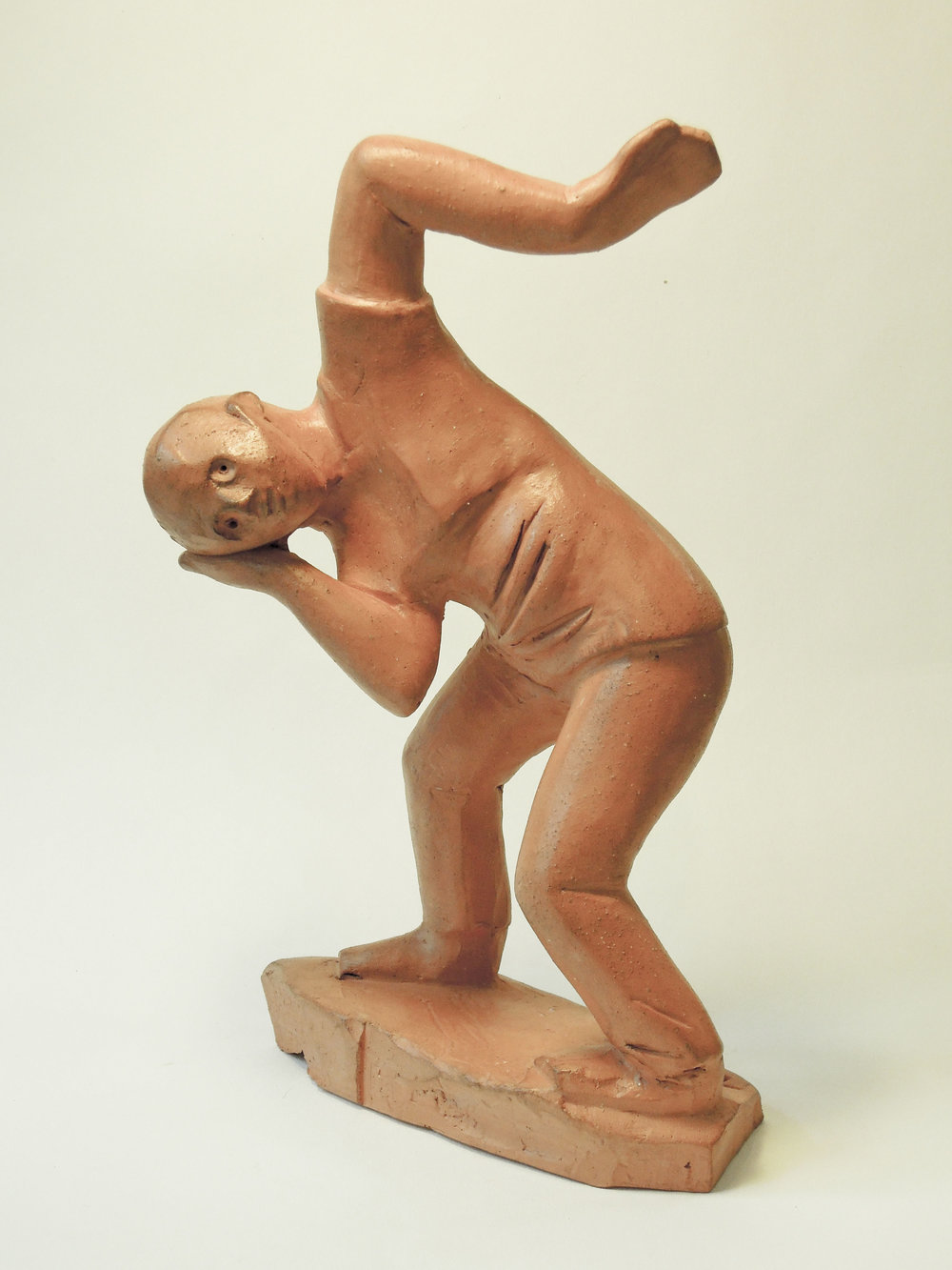 "Dancer  terracotta 9""x 5"" 2018"