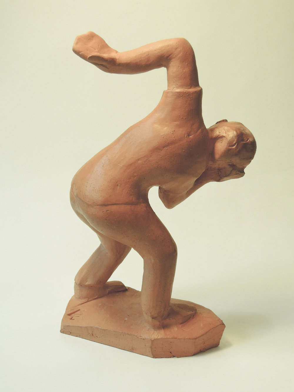 "Dancer  terracotta 9""x5"" 2018"